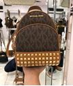 Picture of Michael Kors Abbey Extra-Small Signature Studded Backpack Crossbody Bag