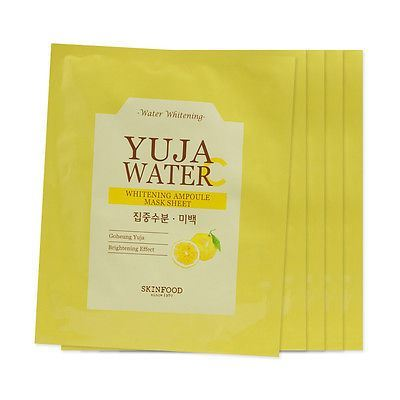 Picture of [Skin Food] Yuja Water C Whitening Ampoule Mask Sheet