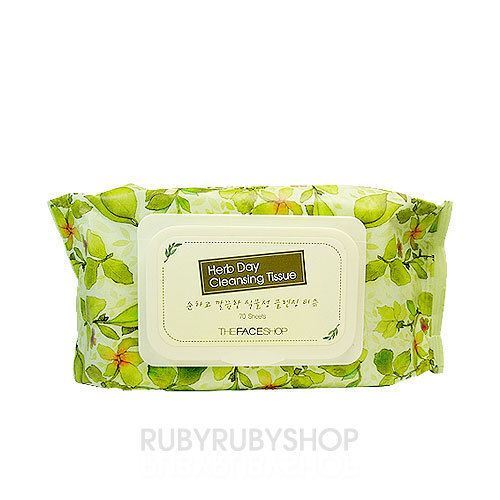 Picture of  THE FACE SHOP Herb Day Cleansing Tissue - 1Pack 70pcs