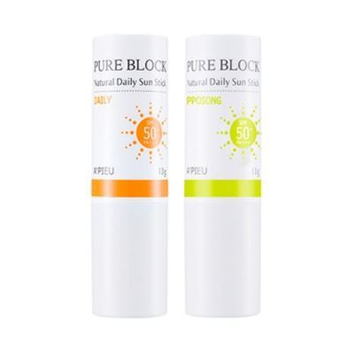 Picture of A'PIEU Pure Block Natural Daily Sun Stick - 13g SPF50+ PA+++